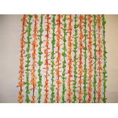 Κουρτίνα Πόρτας Χαβάη Λαχανί - Πορτοκαλί