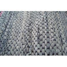 Δερμάτινο Ταπέτο Charcoal Flat