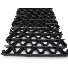 Αντιλιοσθητικό δάπεδο 8mm PVC Zig Zag Black Φάρδος 1,20m