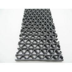 Αντιλιοσθητικό δάπεδο 8mm PVC Zig Zag Grey