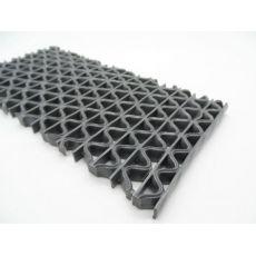 Αντιλιοσθητικό δάπεδο 8mm PVC Zig Zag Grey Φάρδος 1,20m