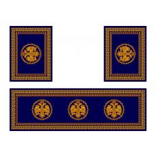 Σετ χαλιών Αγίας Τράπεζας 483 Μπλε