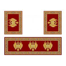 Σετ χαλιών Αγίας Τράπεζας 485 Red με ανοικτά φτερά