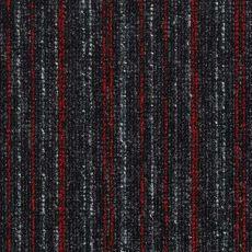 Μοκέτα Πλακάκι Solid Stripes 520 Anthracite Red