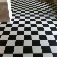 Πλαστικό Δάπεδο Tarkett Echiquier Black White