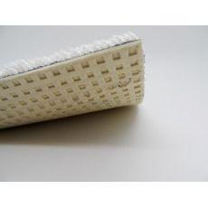 Λευκή μοκέτα βελουτέ με υπόστρωμα λάτεξ