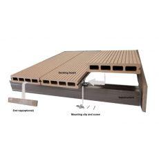 Πάτωμα Deck WPC 40 Brick Red