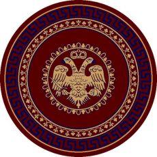 Εκκλησιαστικό Χαλί με δικέφαλο Βυζαντινό αετό και μπλε μαίανδρο