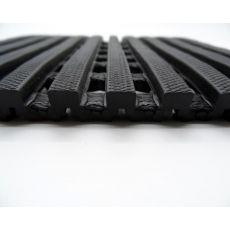 Αντιλιοσθητικό δάπεδο Crossmat Μαύρο Φάρδος 1,20m
