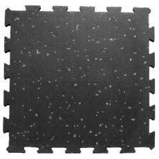 Ελαστικό Πλακάκι Παζλ Μαύρο Γκρι