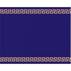 Εκκλησιαστικός διάδρομος μπλε με χρυσό μαίανδρο
