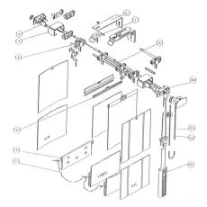 Κάθετη Περσίδα Υφασμάτινη 89mm Νο1006-89 γκρί σκούρο