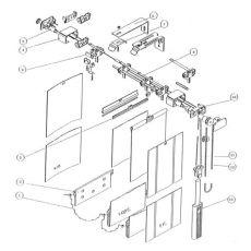 Κάθετη Περσίδα Υφασμάτινη 89mm Νο1008-89 Λαδί