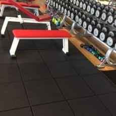 Δάπεδο καουτσούκ για Γυμναστήριο Crossfit Full powder 100 %