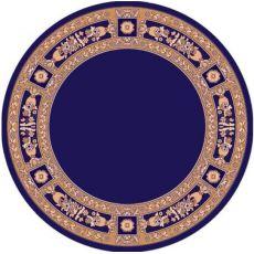 Εκκλησιαστικό Χαλί Μπλέ στρόγγυλο με μπορντούρα