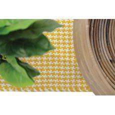 Χαλι Urban Cotton Kilim Houndstooth Yellow - Royal Carpet