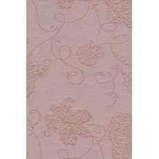 Ρολλερ Σκίασης  μπεζ κανελί ανάγλυφο λουλούδι 101324