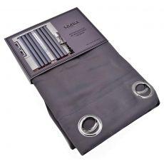 Έτοιμη Κουρτίνα BlackOut Με Τρουκς 140cm x 260cm Σκούρο Γκρι
