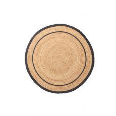 Ψάθινο χαλί Sombrero 483 530 Black Royal Carpet