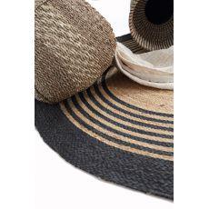 Ψάθινο χαλί Sombrero 484 530 Black Royal Carpet