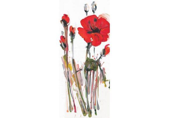 Φωτοταπετσαρία Πόρτας red poppies