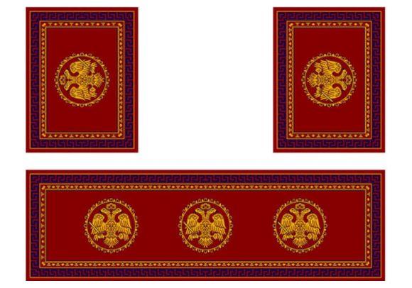 Σετ χαλιών Αγίας Τράπεζας 483 Red